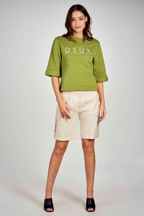 DEUX. by Eline De Munck Sweaters met ronde hals groen EDM211WT 032_GUACAMOLE img1