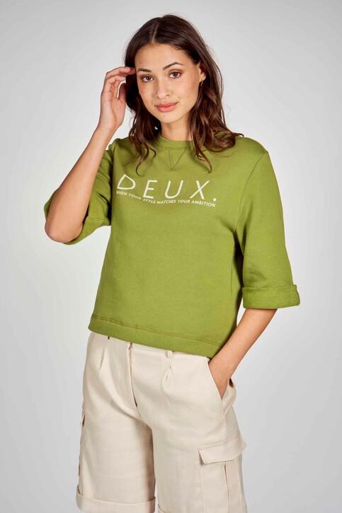 DEUX. by Eline De Munck Sweaters met ronde hals groen EDM211WT 032_GUACAMOLE img2