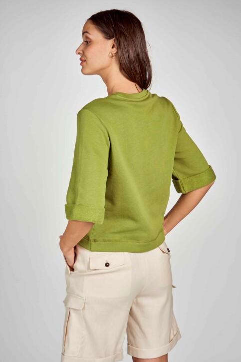 DEUX. by Eline De Munck Sweaters met ronde hals groen EDM211WT 032_GUACAMOLE img3