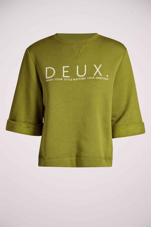DEUX. by Eline De Munck Sweaters met ronde hals groen EDM211WT 032_GUACAMOLE img4