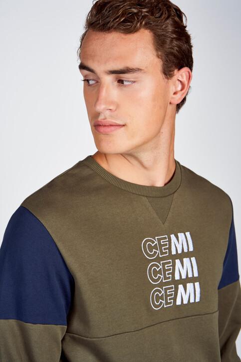 CEMI by Céline & Michiel Sweaters met ronde hals groen EMI202MT 006_OLIVE NIGHT img4