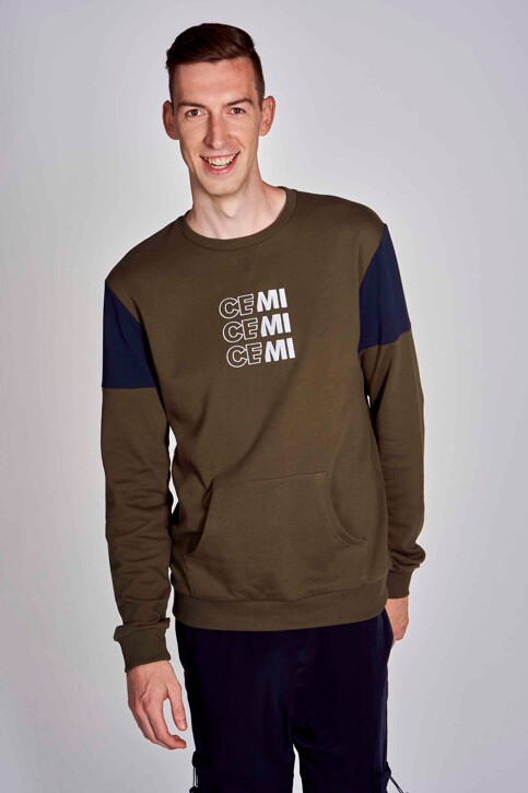 CEMI by Céline & Michiel Sweaters met ronde hals groen EMI202MT 006_OLIVE NIGHT img5