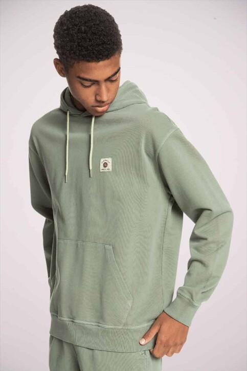 Quiksilver Sweaters met kap groen EQYFT04319BPL0_BPL0 BLUE SPRUC img1