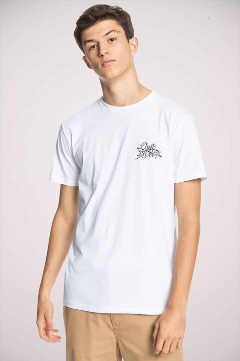 Quiksilver T-shirts (korte mouwen) wit EQYZT06316WBB0_WBB0 WHITE img3