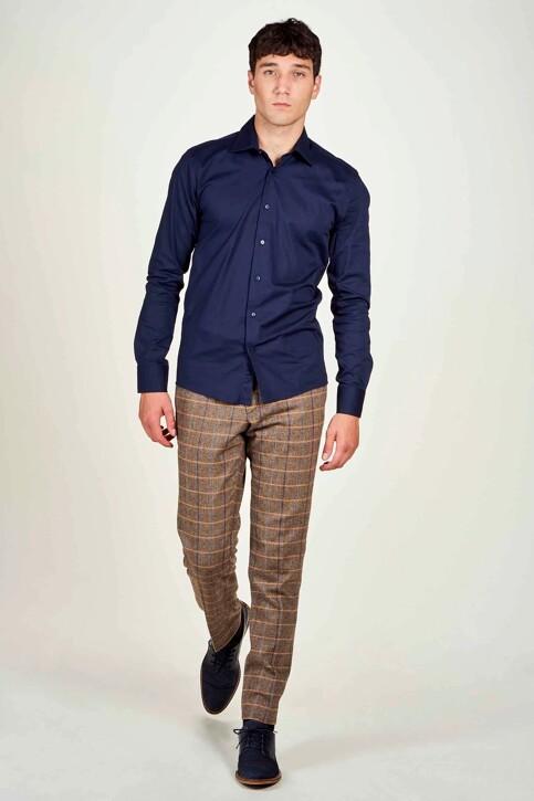 Le Fabuleux Marcel de Bruxelles Hemden (lange mouwen) blauw IMP194MT 025_NAVY img1