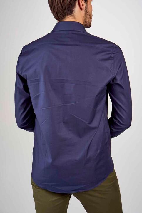 Le Fabuleux Marcel de Bruxelles Hemden (lange mouwen) blauw IMP194MT 025_NAVY img5
