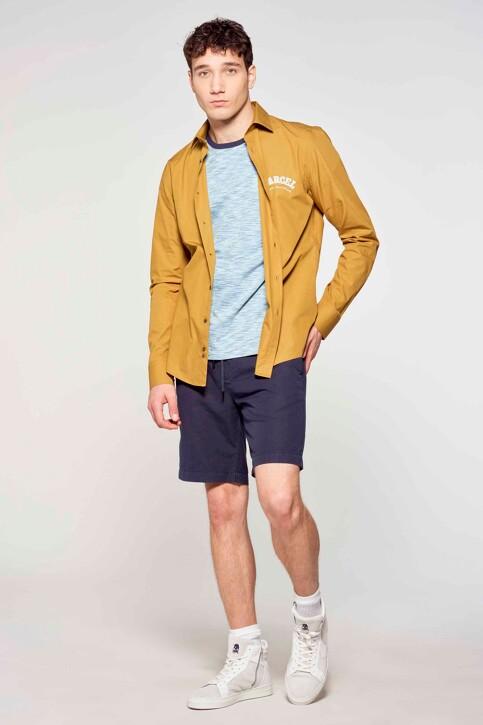 Le Fabuleux Marcel de Bruxelles Hemden (lange mouwen) bruin IMP211MT 013_DRIED TOBACCO img1