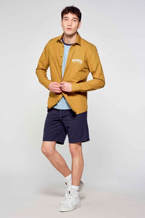 Le Fabuleux Marcel de Bruxelles Hemden (lange mouwen) bruin IMP211MT 013_DRIED TOBACCO img2