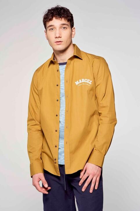 Le Fabuleux Marcel de Bruxelles Hemden (lange mouwen) bruin IMP211MT 013_DRIED TOBACCO img3