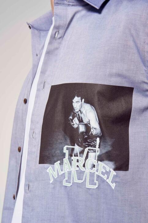 Le Fabuleux Marcel de Bruxelles Hemden (lange mouwen) blauw IMP211MT 014_BLUE img5