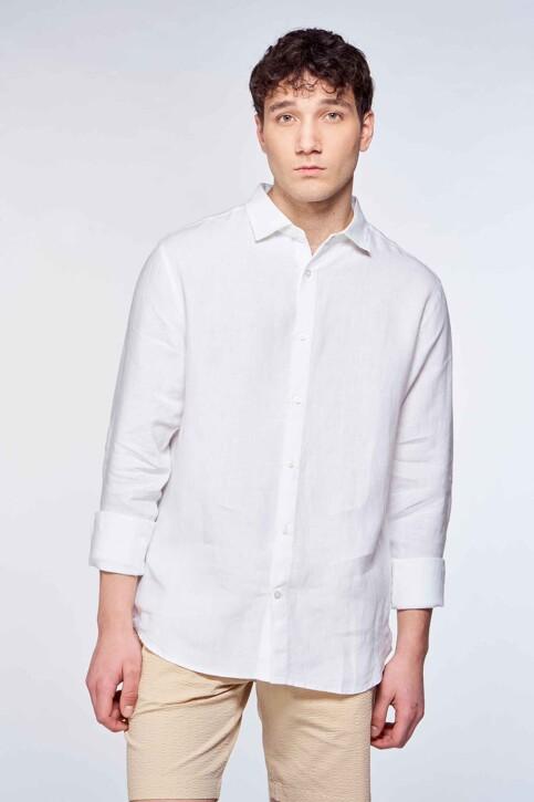 Le Fabuleux Marcel de Bruxelles Hemden (lange mouwen) wit IMP211MT 016_WHITE img3