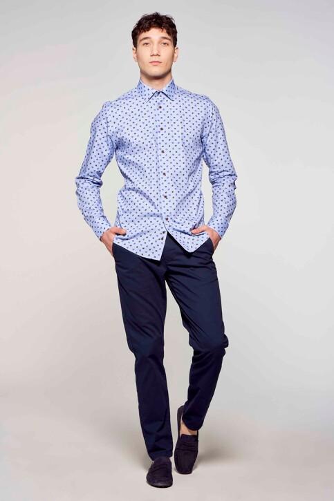 Le Fabuleux Marcel de Bruxelles Hemden (lange mouwen) blauw IMP211MT 018_BLUE img1