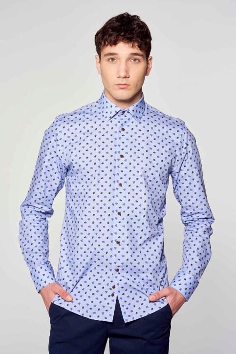 Le Fabuleux Marcel de Bruxelles Hemden (lange mouwen) blauw IMP211MT 018_BLUE img2