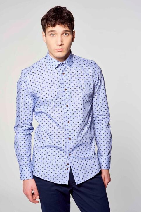 Le Fabuleux Marcel de Bruxelles Hemden (lange mouwen) blauw IMP211MT 018_BLUE img3