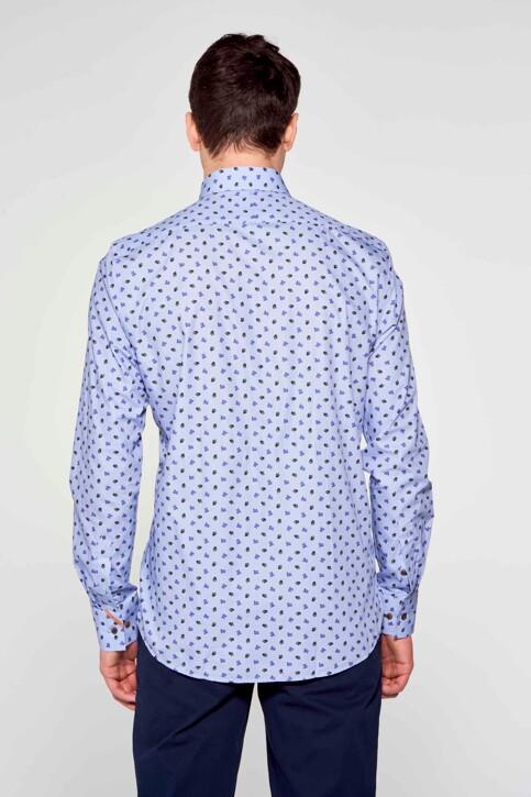 Le Fabuleux Marcel de Bruxelles Hemden (lange mouwen) blauw IMP211MT 018_BLUE img4