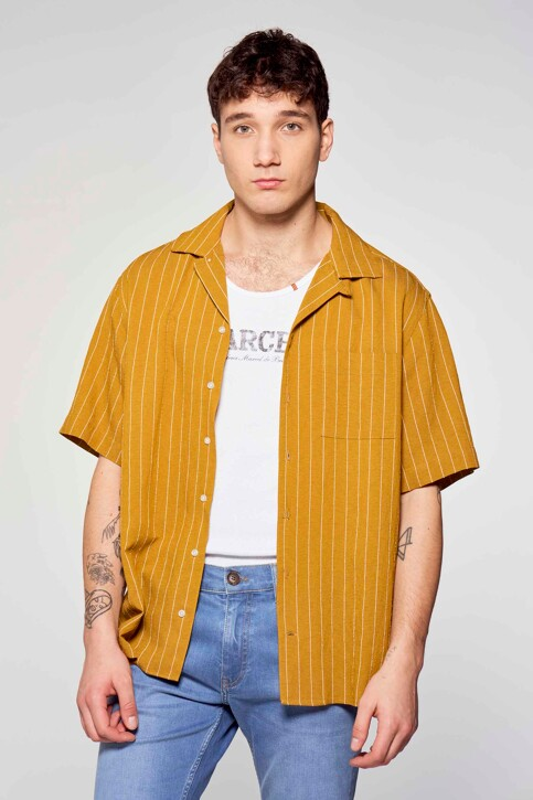 Le Fabuleux Marcel de Bruxelles Hemden (korte mouwen) bruin IMP211MT 036_DRIED TOBACCO img2