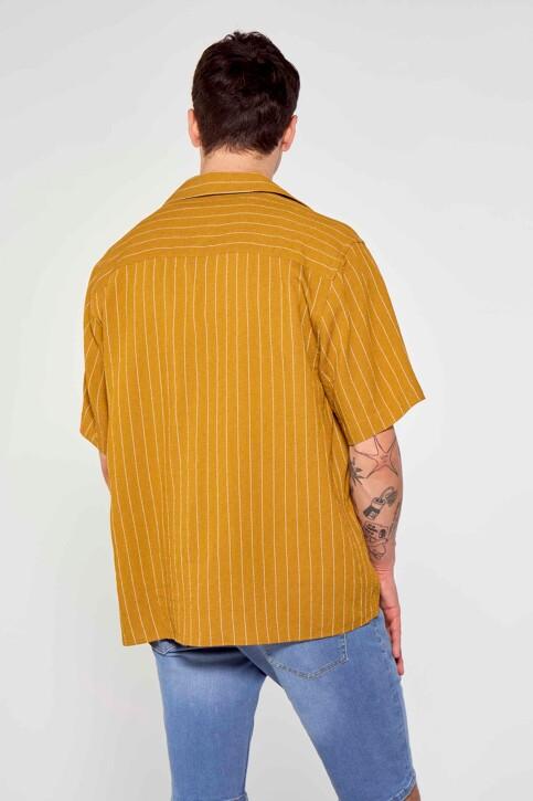 Le Fabuleux Marcel de Bruxelles Hemden (korte mouwen) bruin IMP211MT 036_DRIED TOBACCO img3