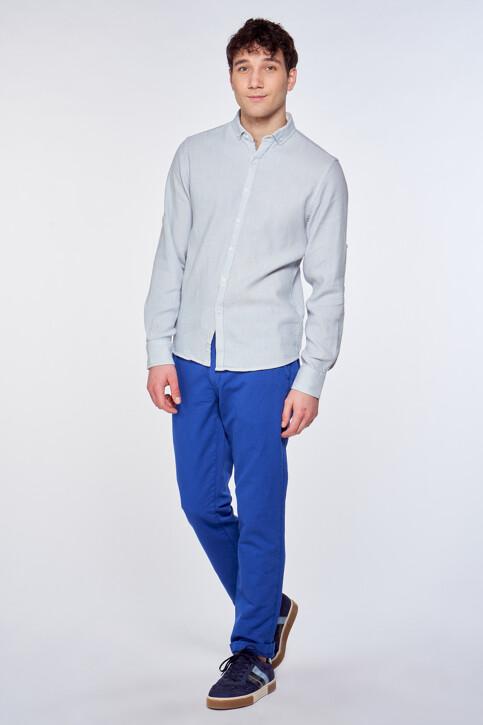 Le Fabuleux Marcel de Bruxelles Hemden (lange mouwen) blauw IMP211MT 038_CHAMBREY BLUE img1