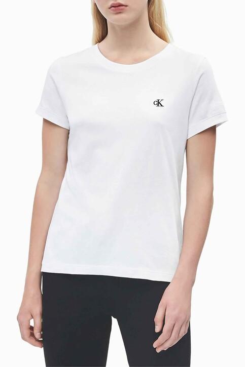 Calvin Klein Tops uni manche courte blanc J20J212883YAF_YAF BRIGHT WHIT img1