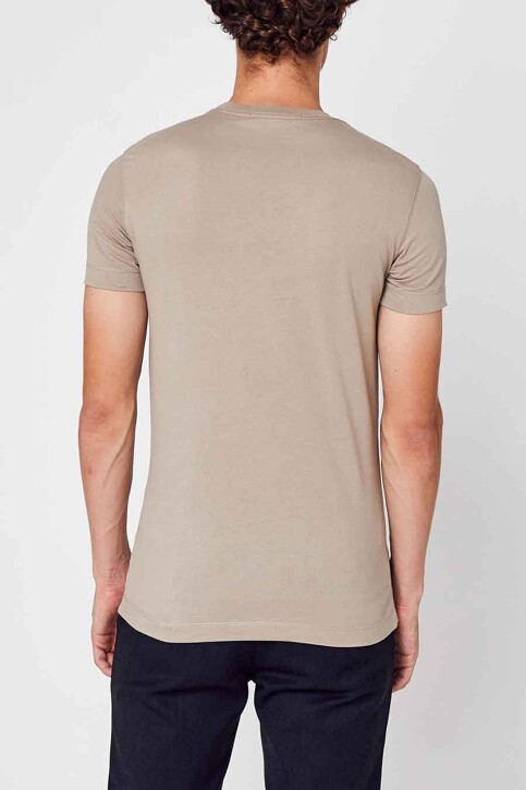 Calvin Klein T-shirts (korte mouwen) beige J30J317092PBF_PBF CROCKERY SA img3