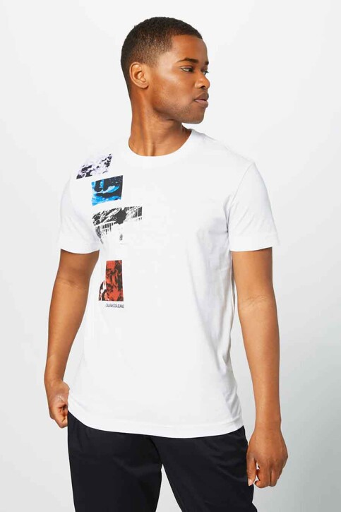 Calvin Klein T-shirts (korte mouwen) wit J30J317497YAF_YAF BRIGHT WHIT img1