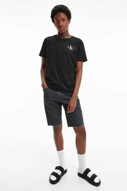 Calvin Klein T-shirts (korte mouwen) zwart J30J318309BEH_BEH CL BLACK img3