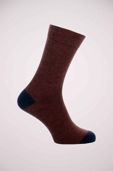ACCESSORIES BY JACK & JONES Chaussettes rouge JACSALM SOCKS NOOS_BURNT HENNA img1