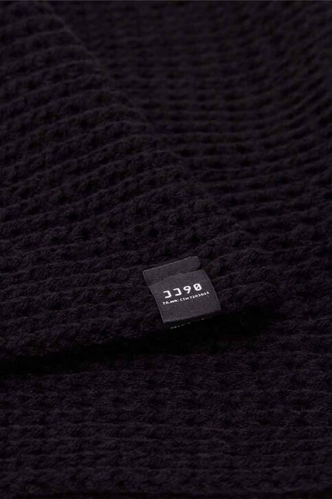ACCESSORIES BY JACK & JONES Wintersjaals zwart JACWAFFLE KNIT TUBE_BLACK img3