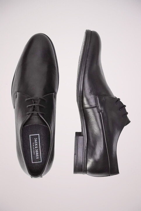ACCESSORIES BY JACK & JONES Chaussures noir JFWSAMMY LEATHER NOO_ANTRACITE img5