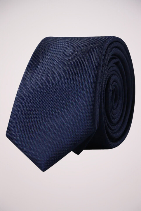 ACCESSORIES BY JACK & JONES Cravates bleu JJACNOOS TIE_BLACK NAVY img1