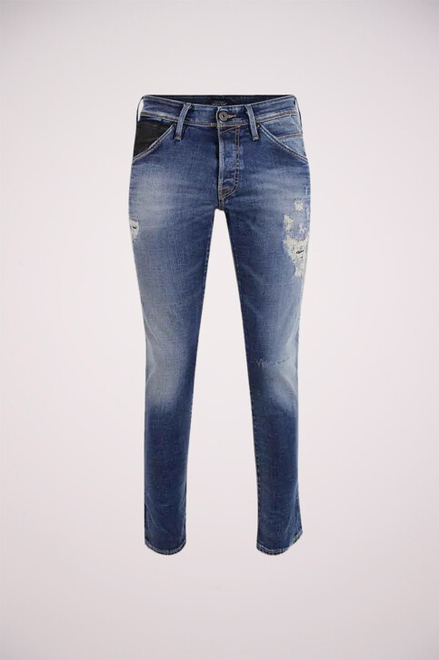 JACK & JONES JEANS INTELLIGENCE Jeans slim denim JJGLENN FOX_BL683VINTDESTR img1