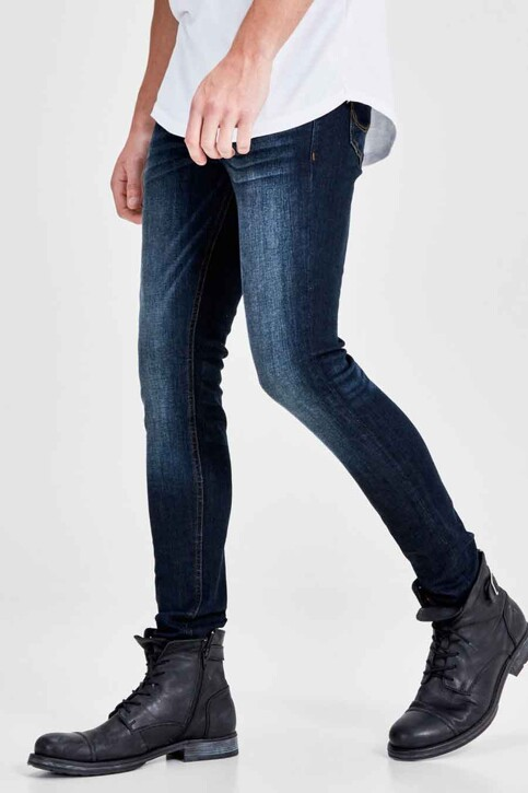 JACK & JONES JEANS INTELLIGENCE Jeans skinny denim JJLIAM ORIGINAL_M014BLUE img8