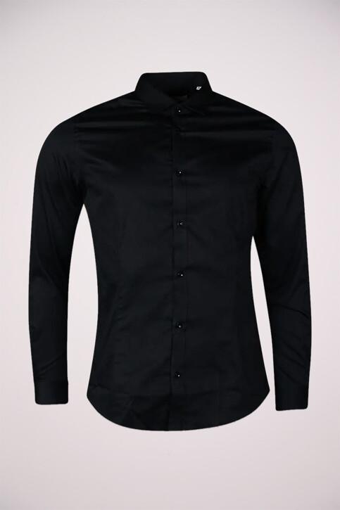 PREMIUM by JACK & JONES Hemden (lange mouwen) zwart JJPRPARMA SHIRT LS_BLACK img1