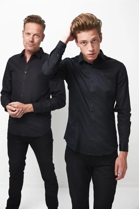 PREMIUM by JACK & JONES Hemden (lange mouwen) zwart JJPRPARMA SHIRT LS_BLACK img2