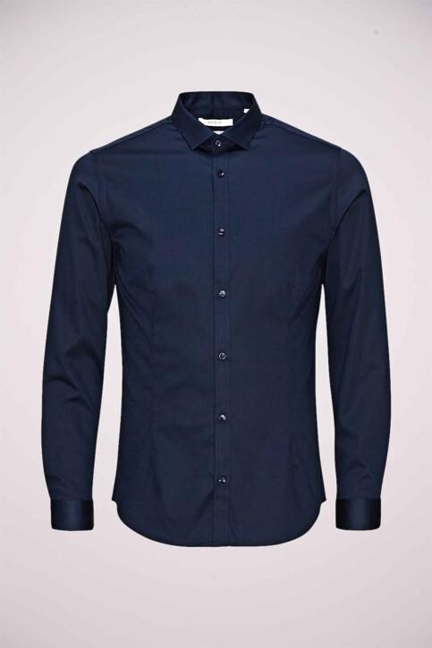 PREMIUM by JACK & JONES Hemden (lange mouwen) blauw JJPRPARMA SHIRT LS_NAVY BLAZER img1