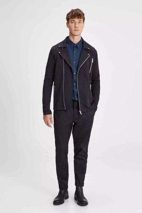 PREMIUM by JACK & JONES Chemises (manches longues) bleu JPRNON IRON SHIRT LS_NAVY BLAZER img2