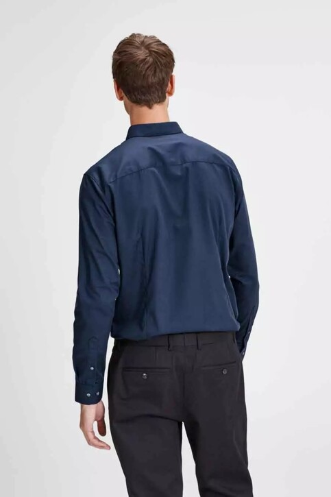 PREMIUM by JACK & JONES Chemises (manches longues) bleu JPRNON IRON SHIRT LS_NAVY BLAZER img3