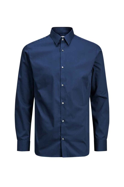 PREMIUM by JACK & JONES Chemises (manches longues) bleu JPRNON IRON SHIRT LS_NAVY BLAZER img7