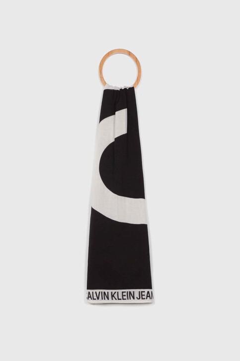 Calvin Klein Zomersjaals zwart K60K605700016_016 BLACK BEAUT img1
