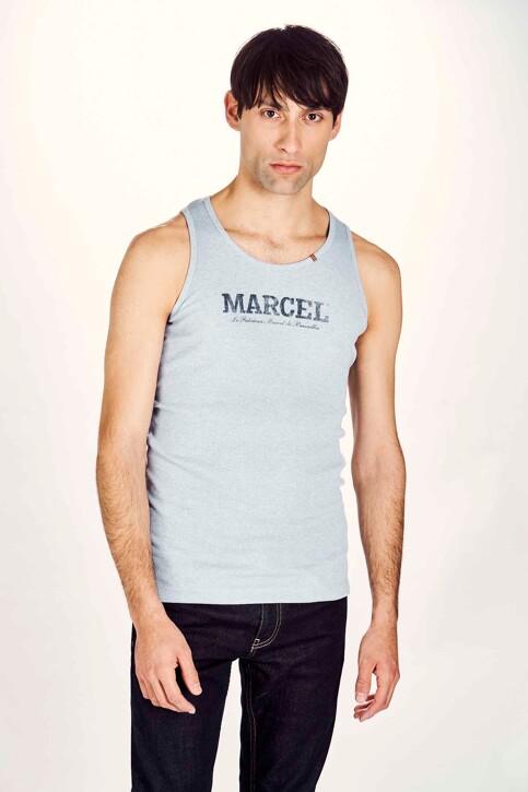 Le Fabuleux Marcel de Bruxelles Débardeurs bleu MDB NOOS PABLO_LIGHT BLUE MELE img1