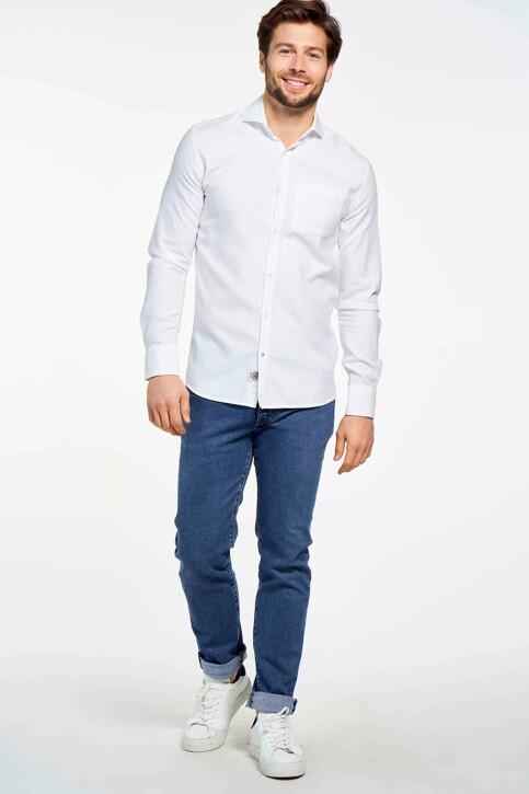 Le Fabuleux Marcel de Bruxelles Hemden (lange mouwen) wit MDB SHIRT LE ROI_WHITE img1