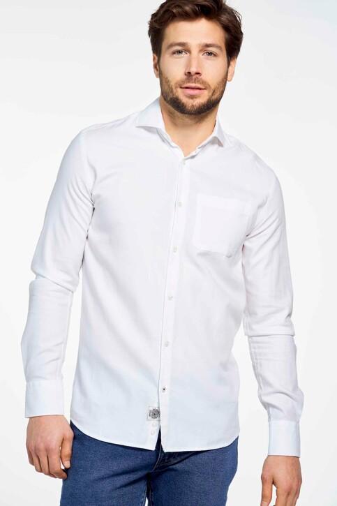 Le Fabuleux Marcel de Bruxelles Hemden (lange mouwen) wit MDB SHIRT LE ROI_WHITE img2