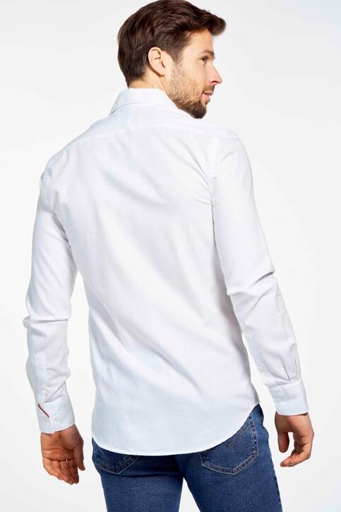 Le Fabuleux Marcel de Bruxelles Hemden (lange mouwen) wit MDB SHIRT LE ROI_WHITE img3