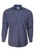Le Fabuleux Marcel de Bruxelles Hemden (lange mouwen) blauw MDB182MT 014_NAVY CHECK img6