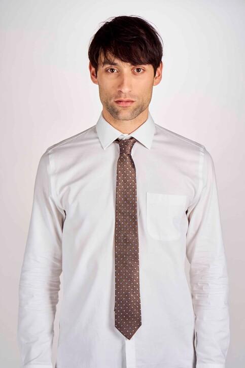 Le Fabuleux Marcel de Bruxelles Cravates brun MDB191MA 010_BROWN img1