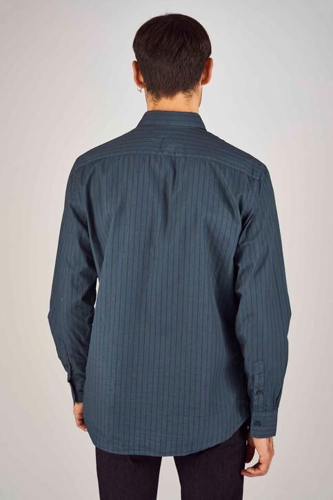 Le Fabuleux Marcel de Bruxelles Hemden (lange mouwen) blauw MDB192MT 020_NAVY img3