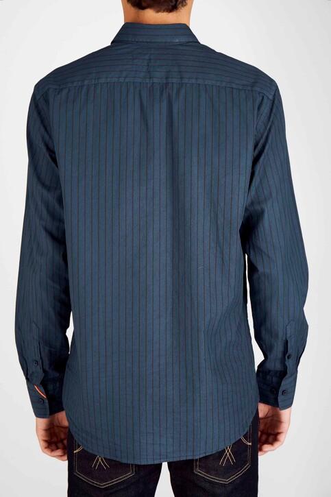 Le Fabuleux Marcel de Bruxelles Hemden (lange mouwen) blauw MDB192MT 020_NAVY img6