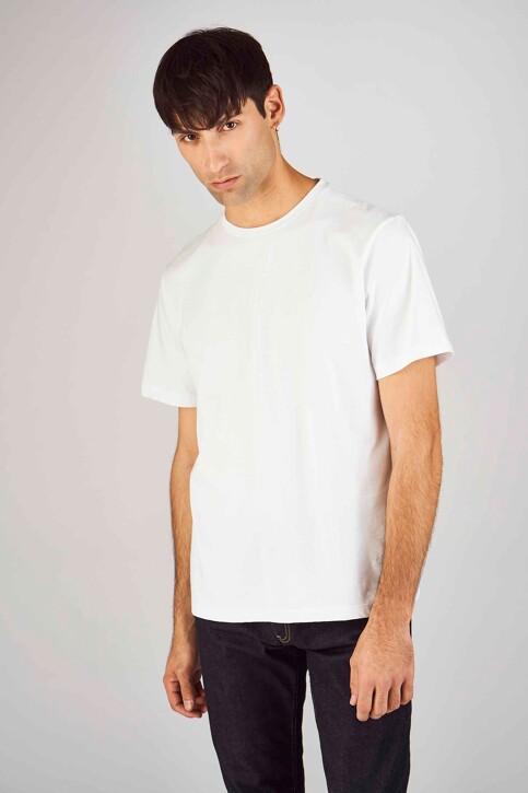 Le Fabuleux Marcel de Bruxelles T-shirts (korte mouwen) wit MDB194MT 012_WHITE img1