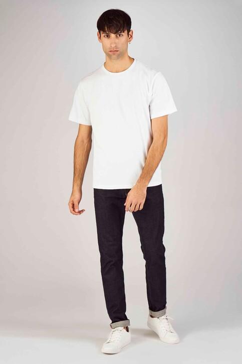 Le Fabuleux Marcel de Bruxelles T-shirts (korte mouwen) wit MDB194MT 012_WHITE img2