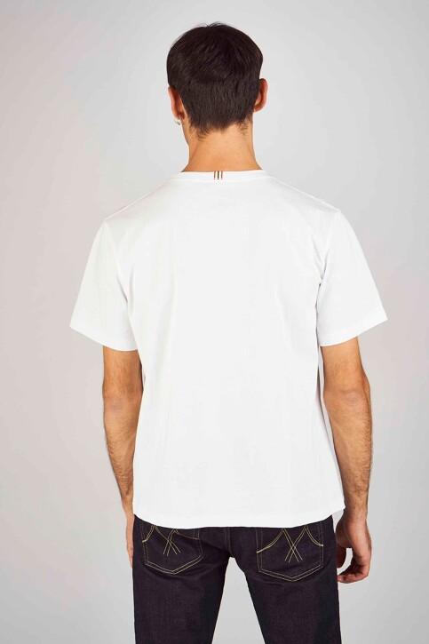 Le Fabuleux Marcel de Bruxelles T-shirts (korte mouwen) wit MDB194MT 012_WHITE img3